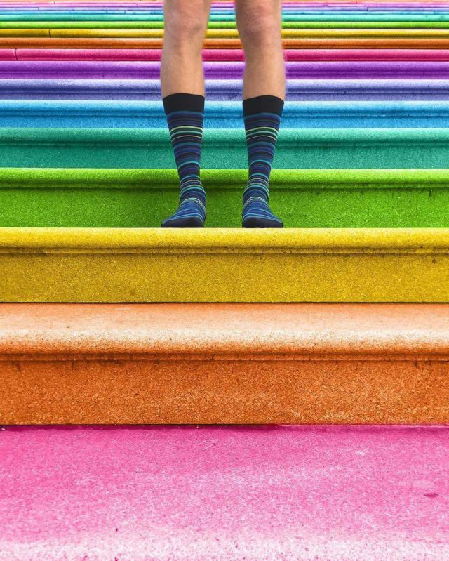 Technicolor buildings by Ramsy Mazri stairs