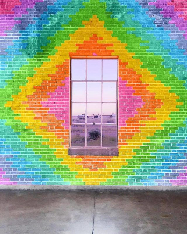 Technicolor buildings by Ramsy Mazri wall