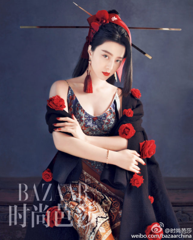 Fan Bingbing for Harper's Bazaar China 30th Anniversary October 2016 roses