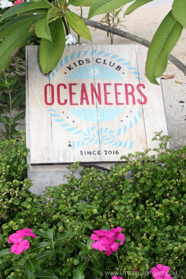The Best Family Friendly activities on a resort Oceaneers club sign