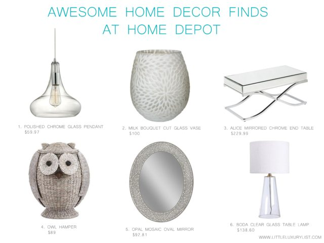Awesome home decor finds at Home Depot by little luxury list