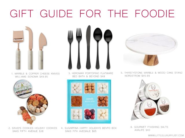 gift guide for the foodie by little luxury list
