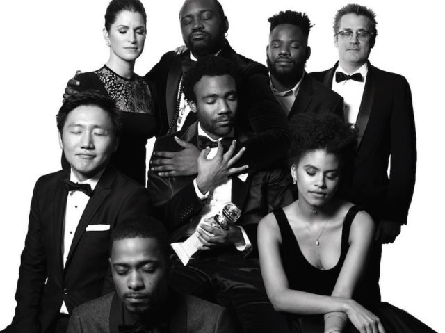 Black and white photos of stars at the Golden Globes by Mert and Marcus - Atlanta cast