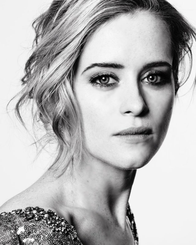 Black and white photos of stars at the Golden Globes by Mert and Marcus - Claire Foy