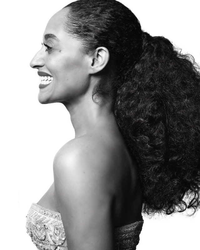 Black and white photos of stars at the Golden Globes by Mert and Marcus - Tracee Ellis Ross