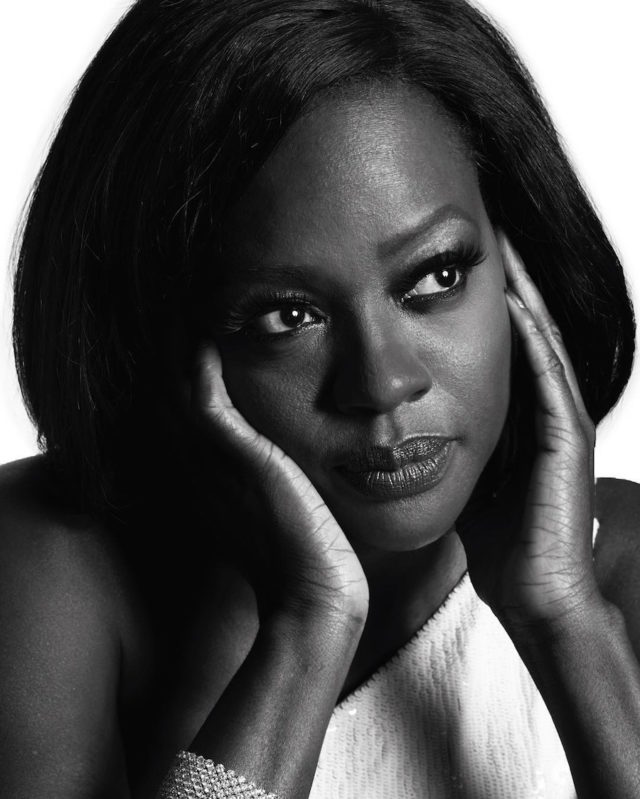 Black and white photos of stars at the Golden Globes by Mert and Marcus - Viola Davis
