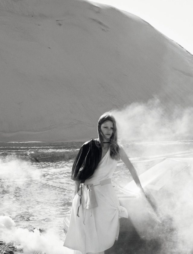 Roos Abels by Txema Yeste for Numero December 2016 in white gown