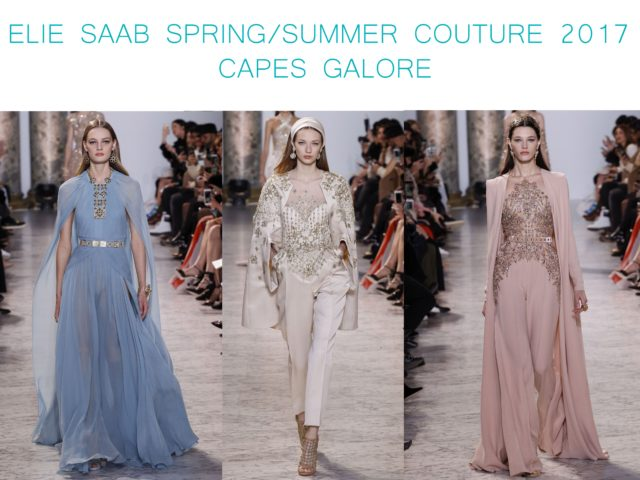 Elie Saab Spring Summer Couture 2017 - Capes Galore