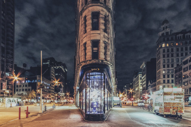 Empty Streets in NYC Flatiron building