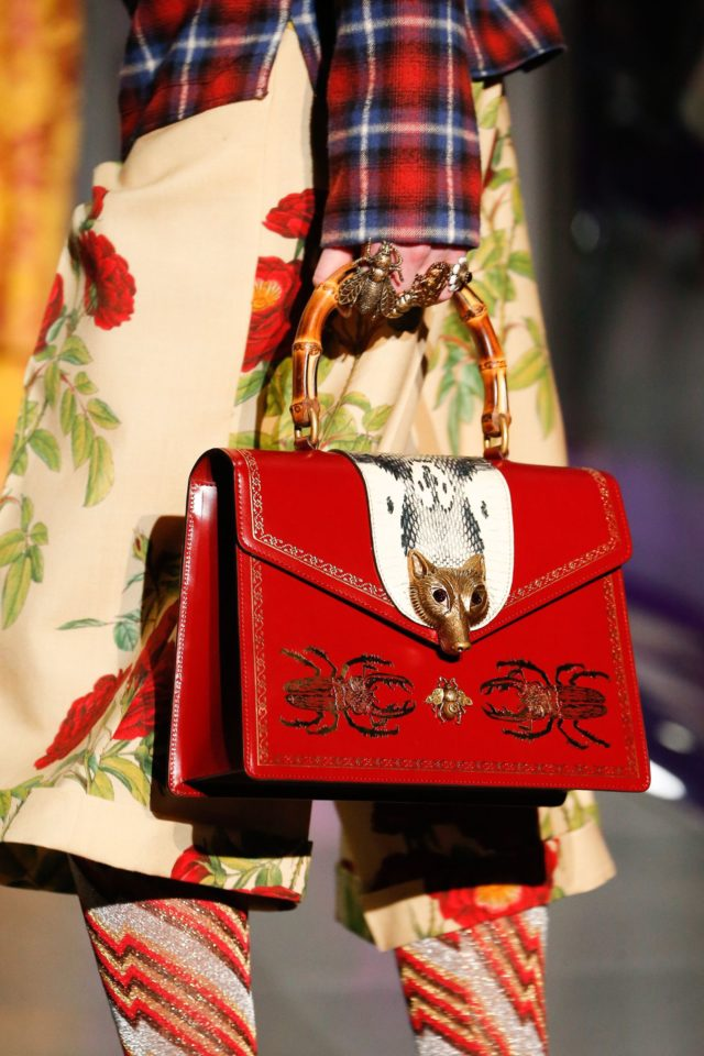 Gucci Autumn:Winter 2017 Ready-to-wear Details bamboo handle purse details
