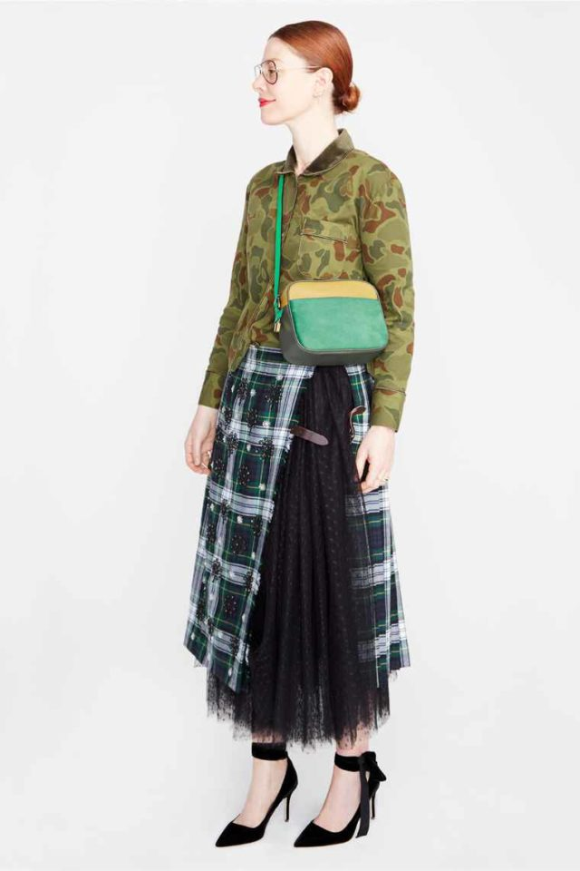 J. Crew NYFW Fall Winter 2017 plaid and tulle