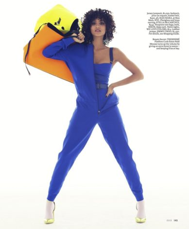 Melodie Vaxelaire for US ELLE FEBRUARY 2017 Max Mara jumpsuit