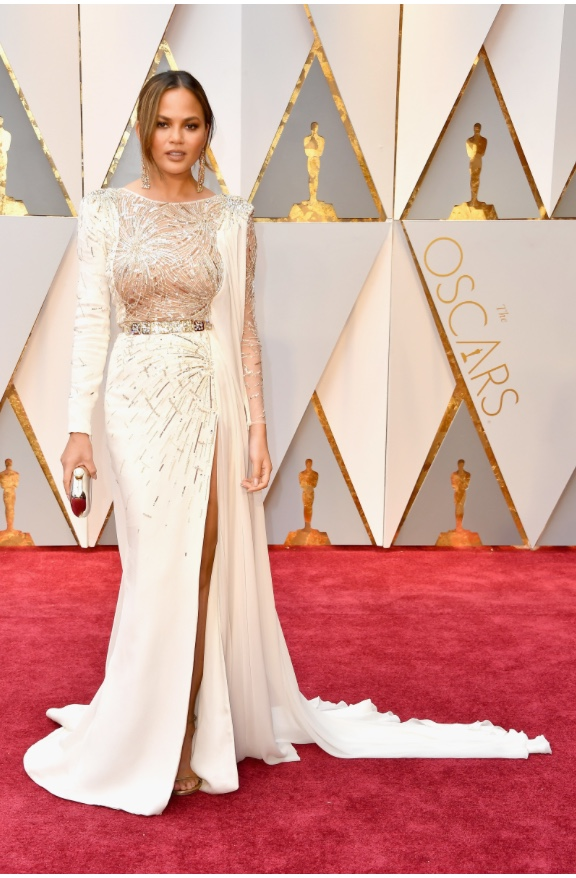 Oscars 2017 Best Dressed Chrissy Teigen in Zuhair Murad Couture