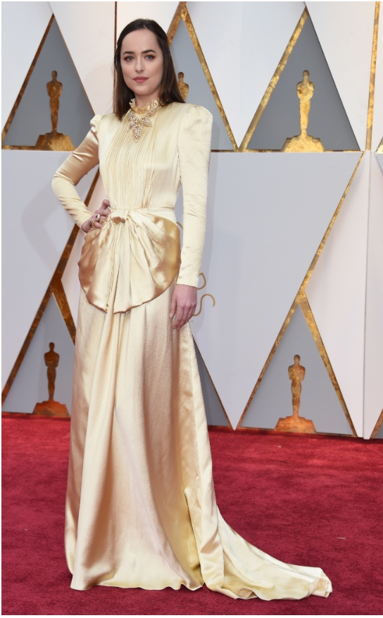 Oscars 2017 Best Dressed Dakota Johnson in Gucci