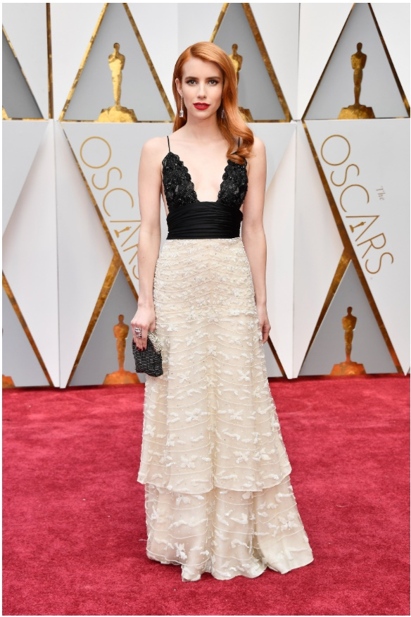 Oscars 2017 Best Dressed Emma Roberts in vintage Armani Prive