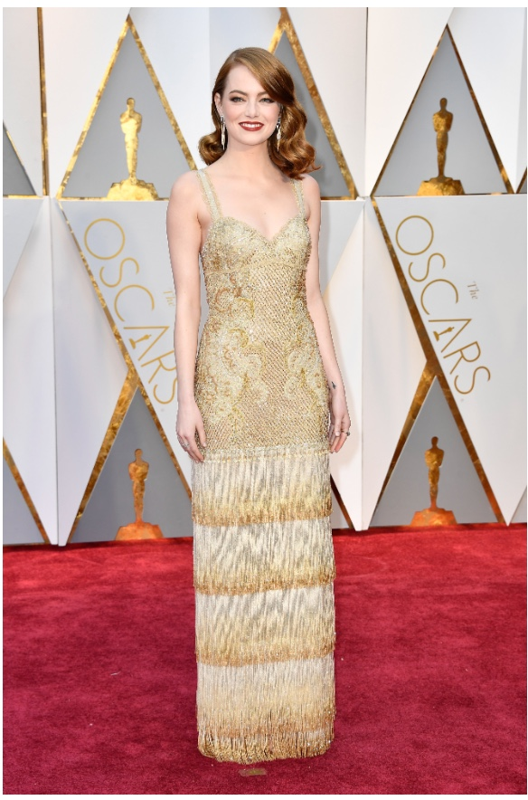 Oscars 2017 Best Dressed Emma Stone in Givenchy Haute Couture
