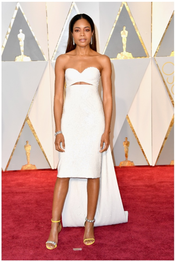 Oscars 2017 Best Dressed Naomie Harris in Calvin Klein