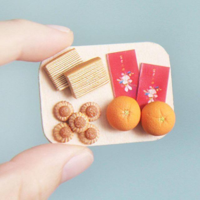 Aiclay miniature food sculptures lunar new year treats