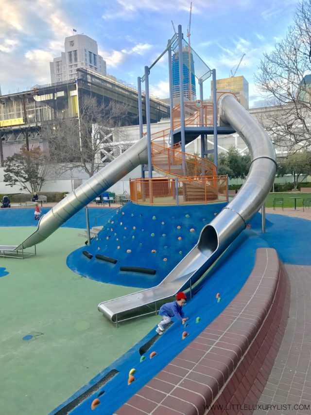 Best Free Places in San Francisco with a toddler Yerba Buena Playground slide