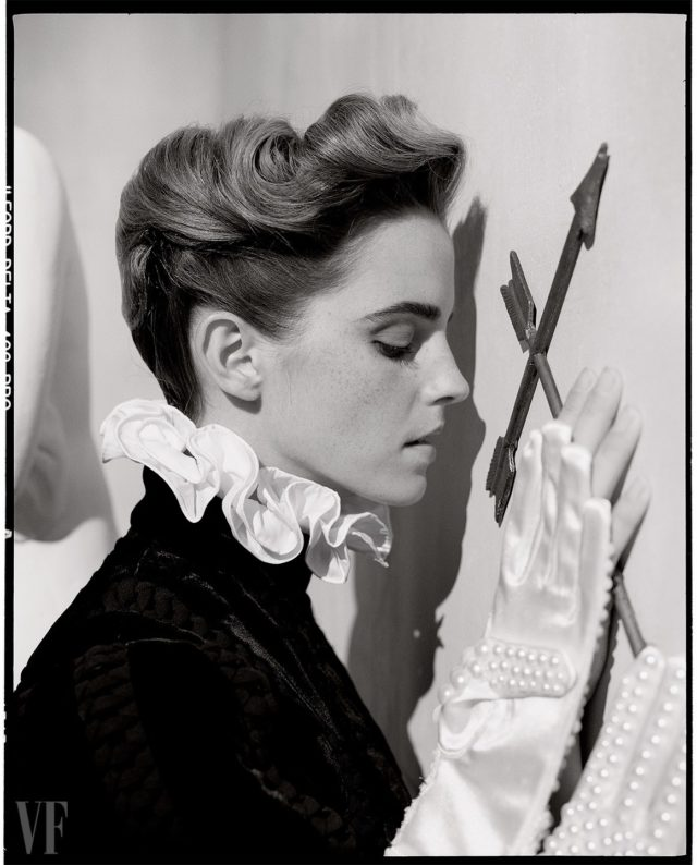 Emma Watson by Tim Walker for Vanity Fair March 2017 with arrows
