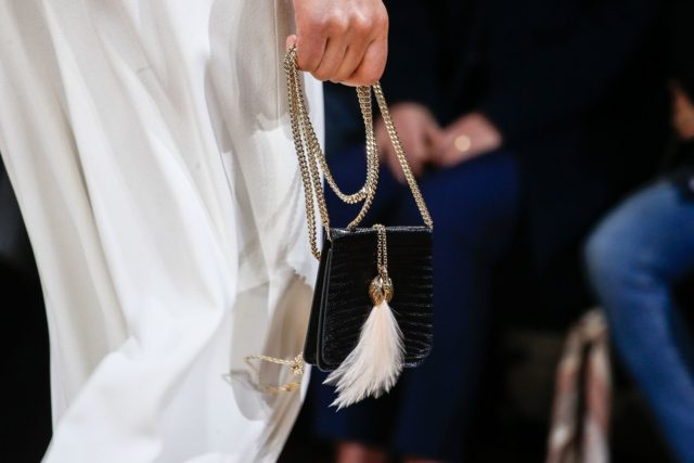Lanvin Autumn:Winter 2017 details purse feather clasp