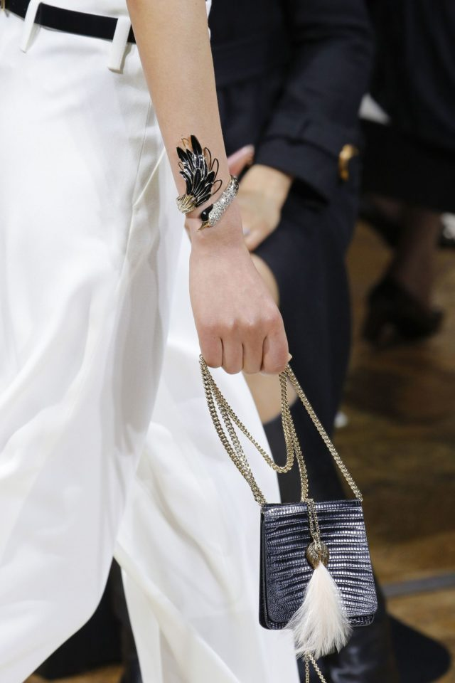 Lanvin Autumn:Winter 2017 details swan cuff