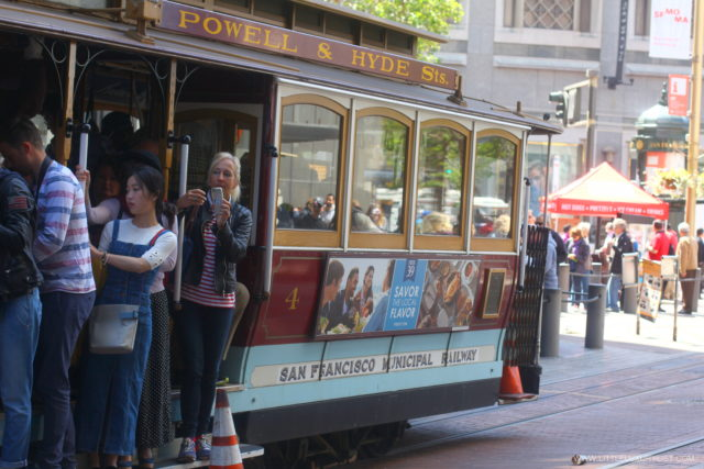San Francisco trolley side by little luxury list