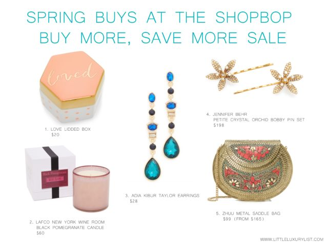 Spring buys at the Shopbop buy more, save more sale - accessories and gifts