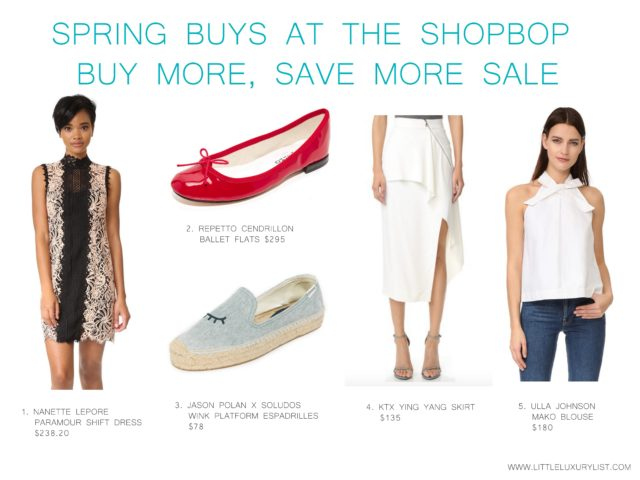 Spring buys at the Shopbop buy more, save more sale - clothing and shoes