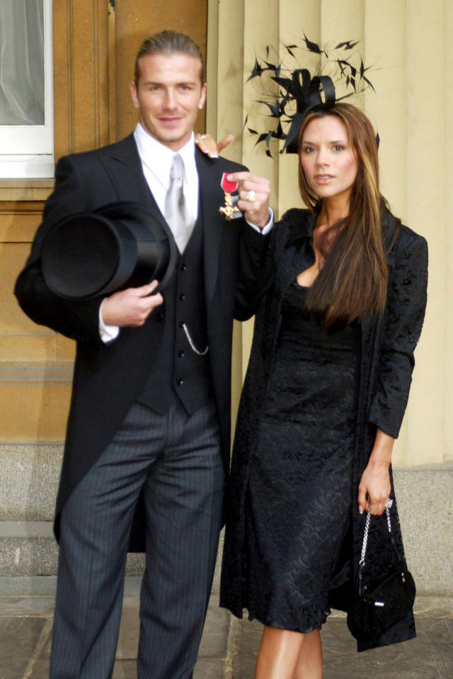 Victoria-Beckham-In-A-Philip-Treacy-Hat-With-David-Beckham-At-His-Investiture-at-Buckingham-Palace-November2003-Famous Philip Treacy hats