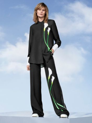 Victoria Beckham for Target calla lily shirt and pants