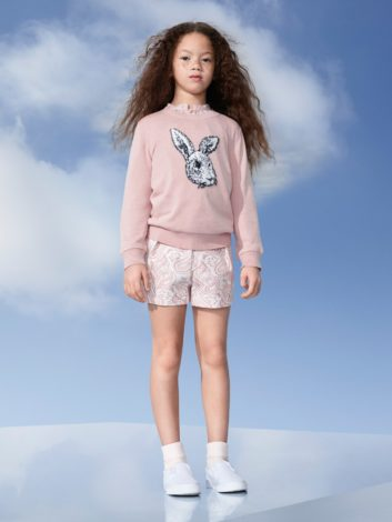 Victoria Beckham for Target kids rose sweater and peony shorts