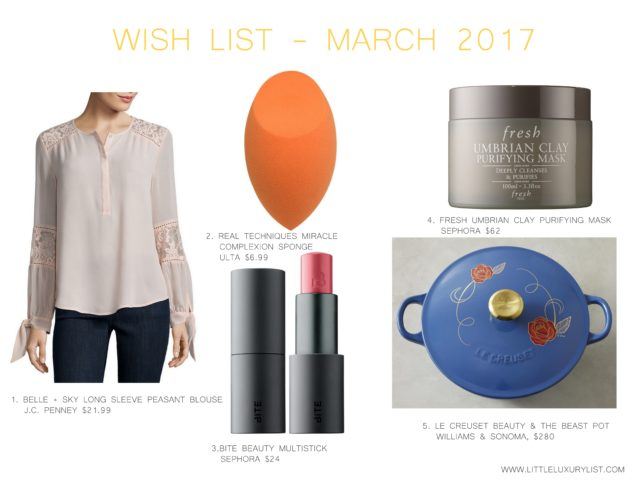 Wish list - March 2017