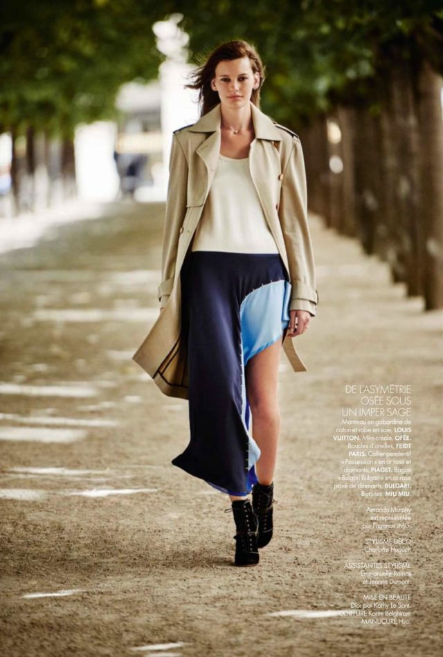 Amanda Murphy Elle France September 2016 Louis Vuitton dress