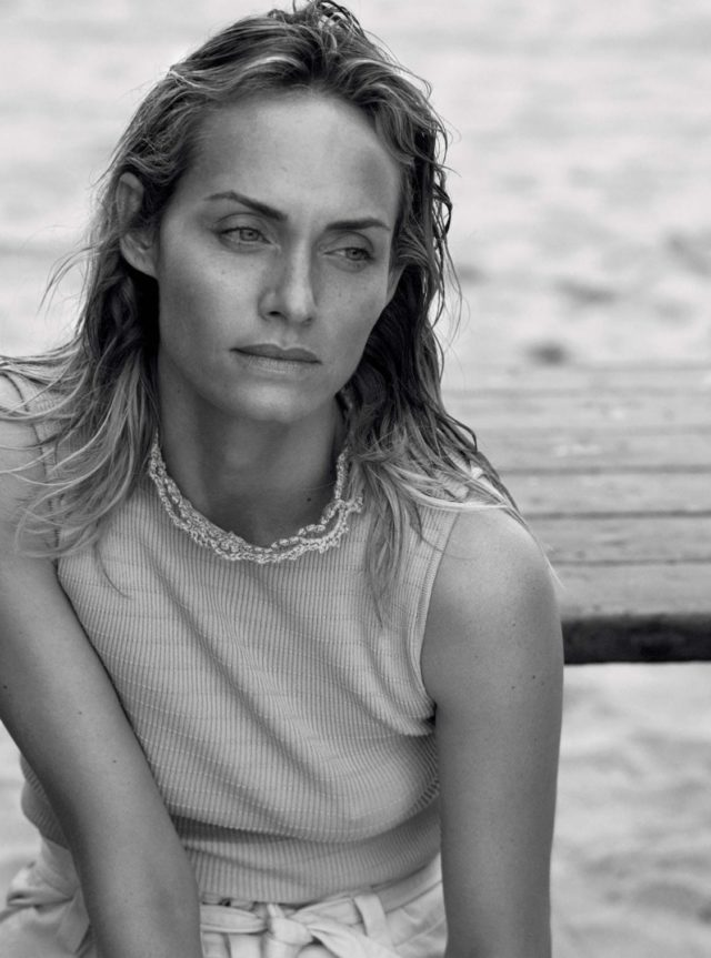 Amber Valetta in UK Vogue May 2017 ribbed top