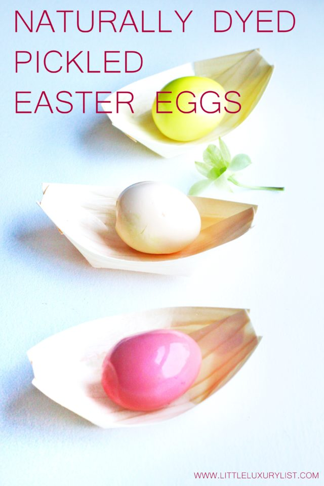 Naturally Dyed Pickled Easter Eggs Recipe on boats