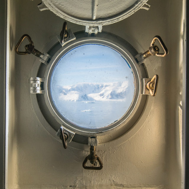 Trip to Antarctica by Josselin Corneau mountain window