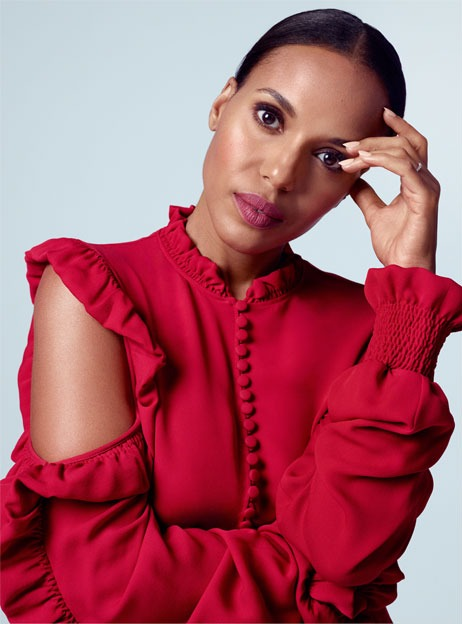 Kerry Washington for the edit May 2017 red shirt
