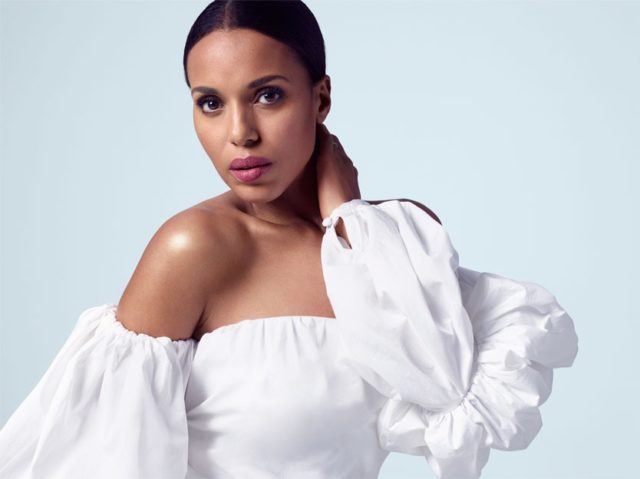 Kerry Washington for the edit May 2017 white off shoulder top