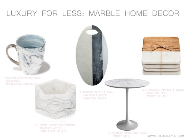 Luxury for less - Marble home decor by little luxury list