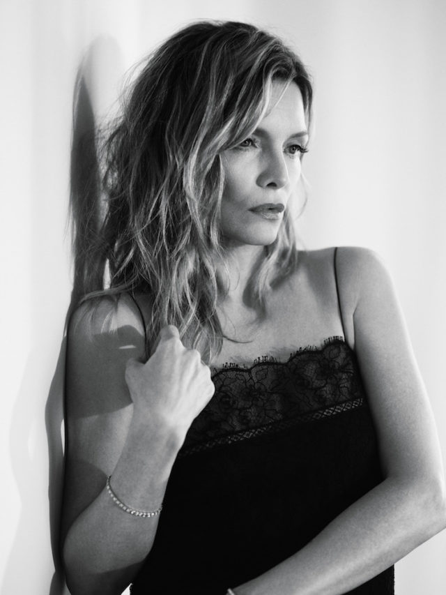 MICHELLE PFEIFFER BY MIKAEL JANSSON for Interview April 2017 in black lace dress