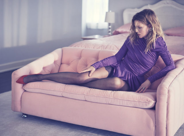 MICHELLE PFEIFFER BY MIKAEL JANSSON for Interview April 2017 in purple dress