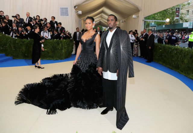 Met Gala 2017 best looks - Cassie in On Aura Tour Diddy in Rick Owens
