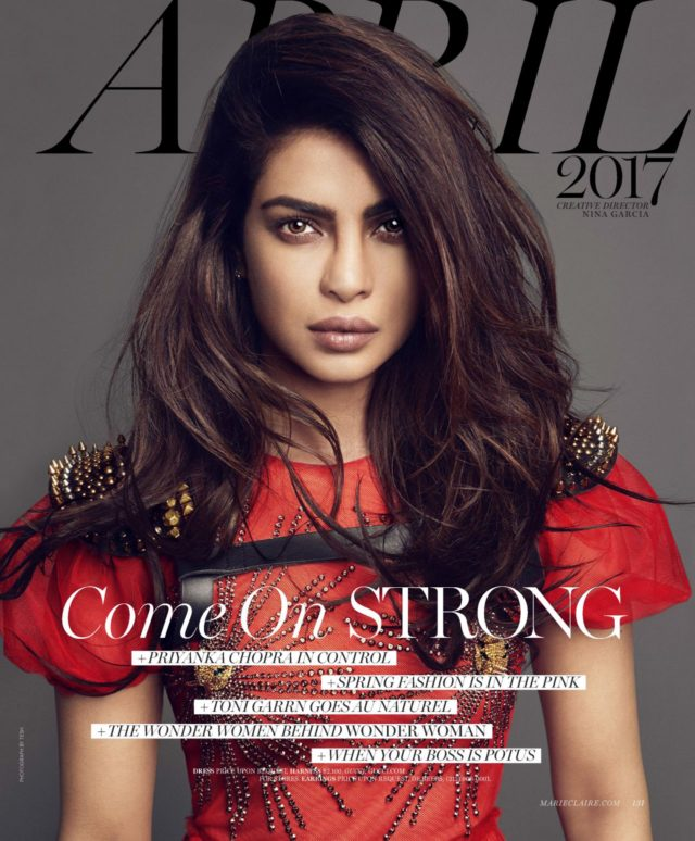 Priyanka Chopra by Tesh for US Marie Claire April 2017 cover