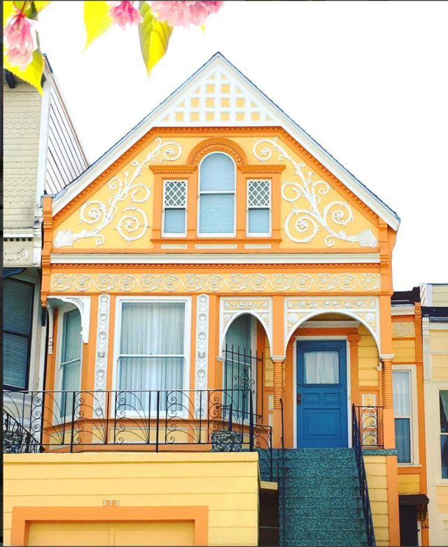 Colorful houses in San Francisco by patrix15 - orange and white