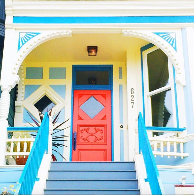 Colorful houses in San Francisco by patrix15 - red door