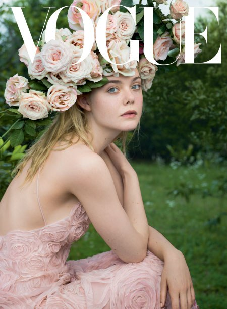 Elle Fanning by Annie Leibovitz for Vogue June 2017 cover