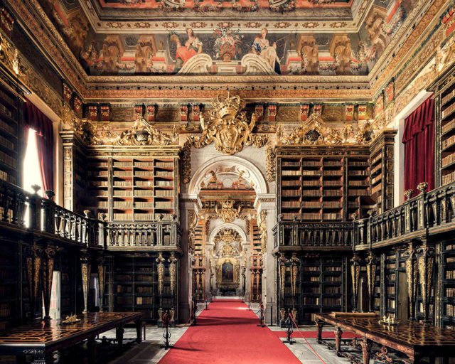 Europe's Most Enchanting Libraries by Photographer Thibaud Poirier Biblioteca Joanina Coimbra