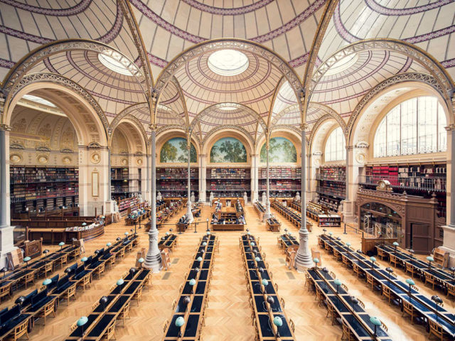 Europe's Most Enchanting Libraries by Photographer Thibaud Poirier Bibliotheque Nationale de France