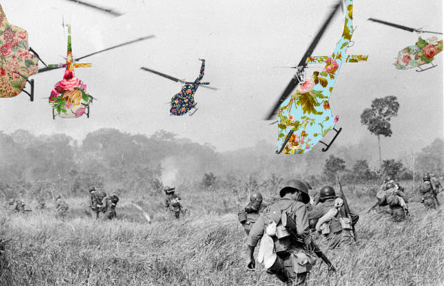 Guy Catling colorful collages helicopter